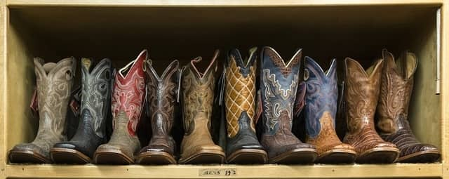 pairs of cowboy boots