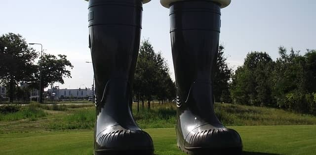 giant pair of rubber boots