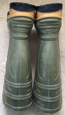 The back of a pair of Cofra rubber boots